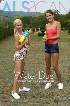 ALSScan - Cindy Shine & Kiara Cole - Water Duel by Als Photographer