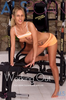 ALS Scan - Amy Lee & Faith & Zuzana - Working Out by Als Photographer