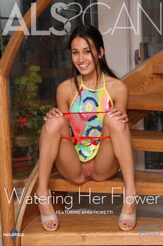 Watering Her Flower